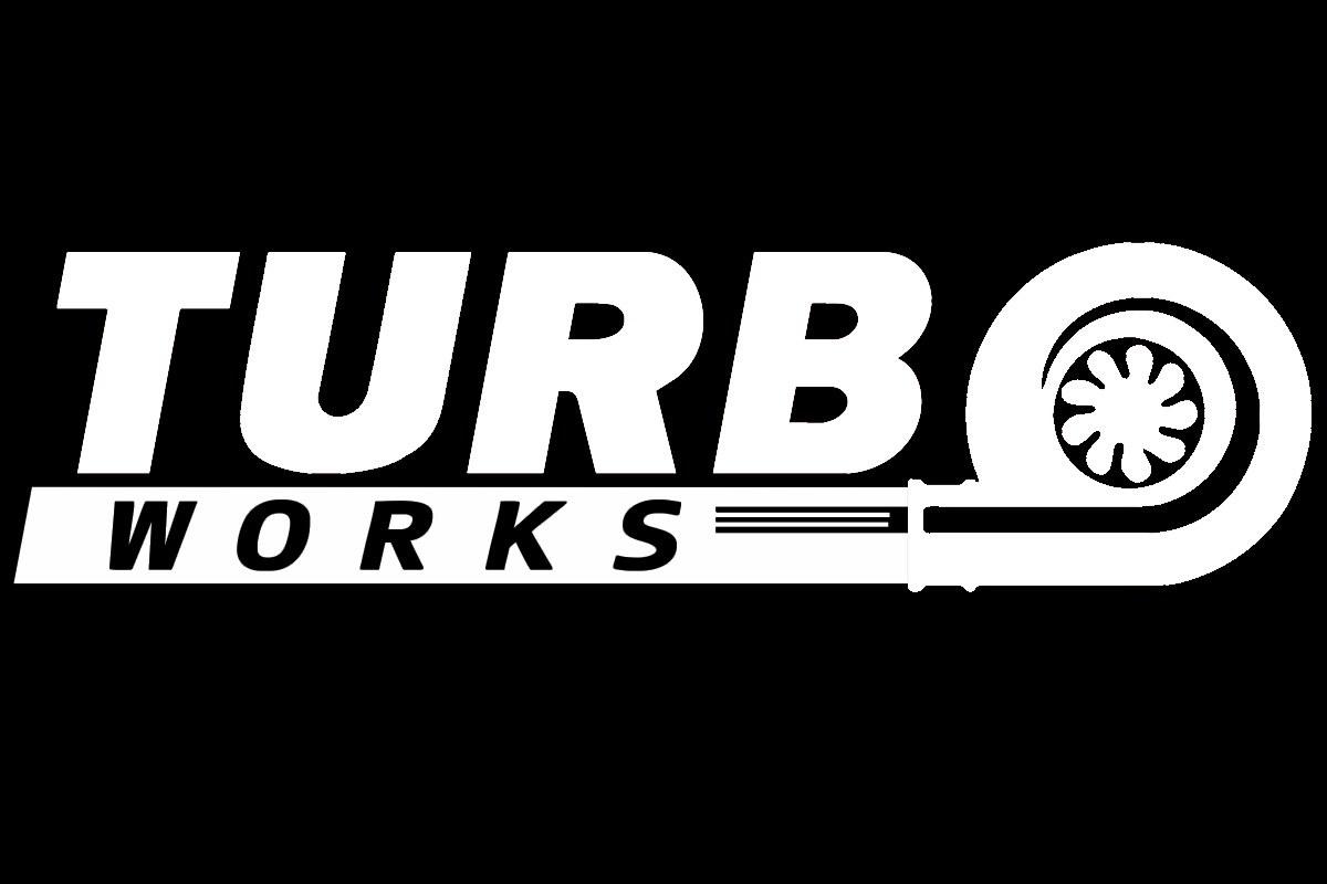 Naklejka TurboWorks Biała - GRUBYGARAGE - Sklep Tuningowy